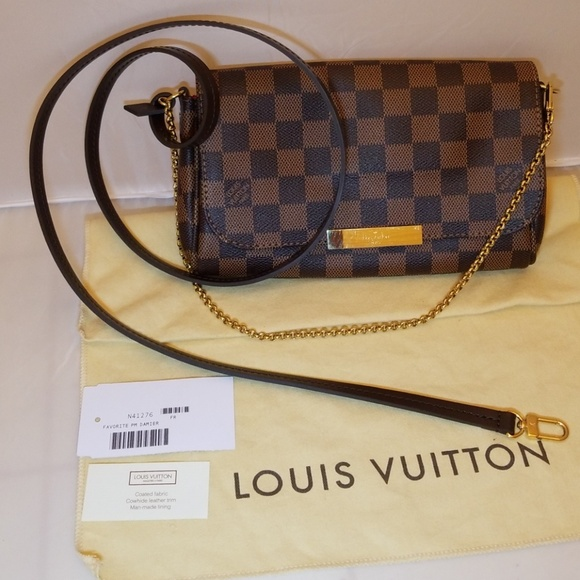 9b3b6897 Louis Vuitton Favorite PM Damier Ebene Canvas